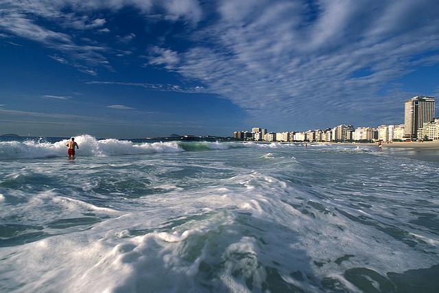 brasil en la playa