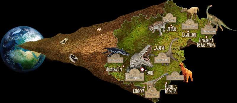 Mapa de centros dinópolis